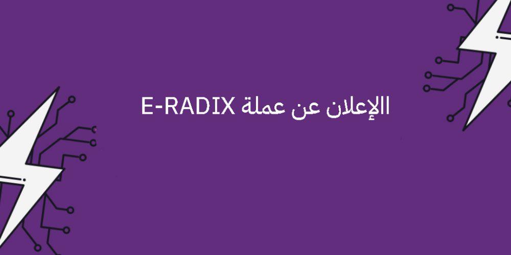 الإعلان عن عملة E-RADIX