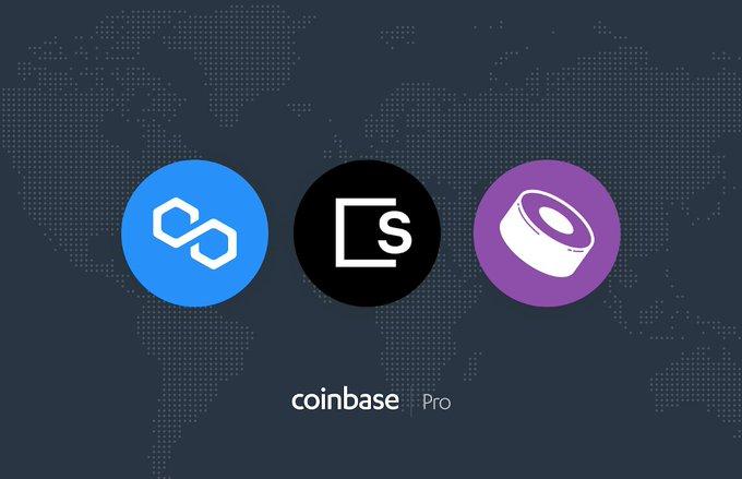 Coinbase Pro تدرج عملات SKL و MATIC و SUSHI