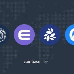 إدراج كلًا من عملة 1INCH و ENJ و NKN و OGN على منصة Coinbase pro